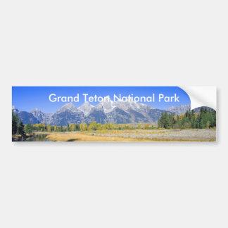 Serie magnífica 7 del parque nacional de Teton Etiqueta De Parachoque