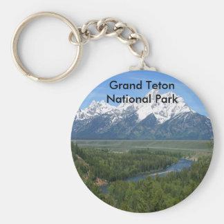 Serie magnífica 8 del parque nacional de Teton Llavero Redondo Tipo Pin