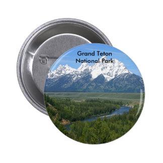 Serie magnífica 8 del parque nacional de Teton Pin Redondo 5 Cm