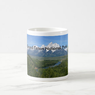 Serie magnífica 8 del parque nacional de Teton Taza Básica Blanca