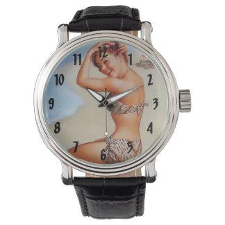 Serie modela retra del vintage clásico reloj