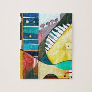 Serie musical - pistas de la guitarra rompecabeza con fotos