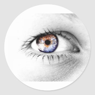 Serie Olho Branco Etiqueta Redonda