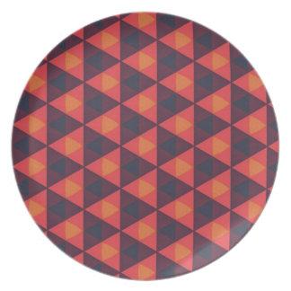 Serie silenciada geométrica al sudoeste #2 platos para fiestas