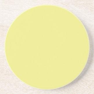 Serie sólida---Práctico de costa amarillo claro Posavasos Cerveza