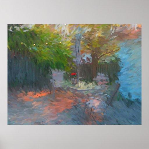 Serie urbana del jardín poster