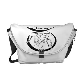 Series 1 Taurus Black Courier Bag