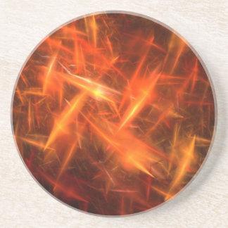 Series-8 estático---Práctico de costa anaranjado 1 Posavasos Personalizados