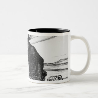 Series 'Actualites', Parisians taking Two-Tone Coffee Mug