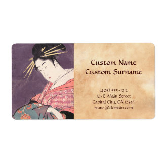 Series Comparing the Charms of Beauties Courtesan Label