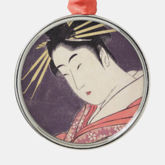 Series Comparing the Charms of Beauties Courtesan Metal Ornament