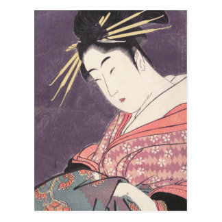 Series Comparing the Charms of Beauties Courtesan Postcard