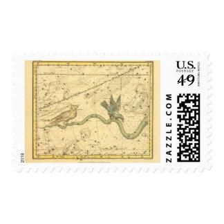 Series continuas, cráter, Corvus, Centarus y lupus Sellos Postales
