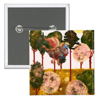 Series Forest. Forest and Forest Dragon 2 Inch Square Button
