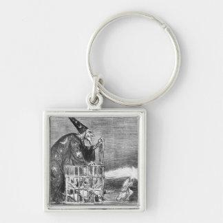 Series 'La Comete de 1857' Silver-Colored Square Keychain