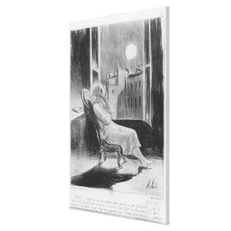Series 'Les Bas-Bleus', O Moon Canvas Print