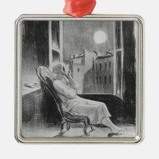 Series 'Les Bas-Bleus', O Moon Metal Ornament