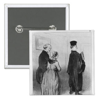 Series 'Les Bons Bourgeois' 2 Inch Square Button