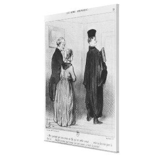 Series 'Les Bons Bourgeois' Canvas Print
