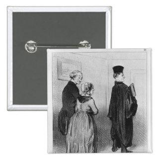Series 'Les Bons Bourgeois' Pinback Button