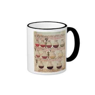 Series of flagons for urine analysis ringer coffee mug