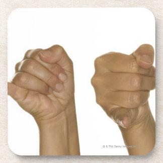Series of hands making J sign Beverage Coaster