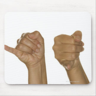 Series of hands making J sign Mouse Pad