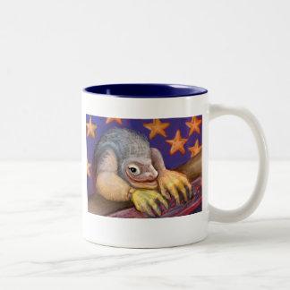 "Series of happy animals ""3"" Two-Tone coffee mug"
