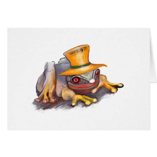 """Series of happy animals """"4"""" greeting card"""