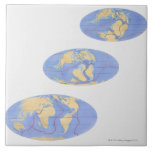Series of illustrations of Earth 200 million Large Square Tile