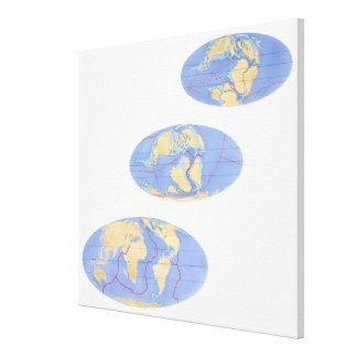 Series of Illustrations of Earth Canvas Print