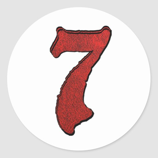 Series rojas del número del día de fiesta del pegatina redonda