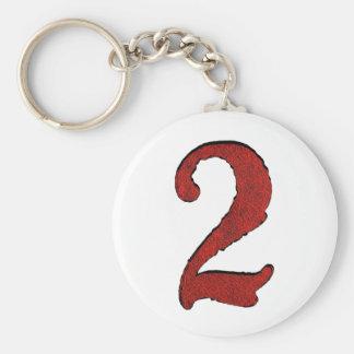 Series rojas del número del día de fiesta del terc llavero
