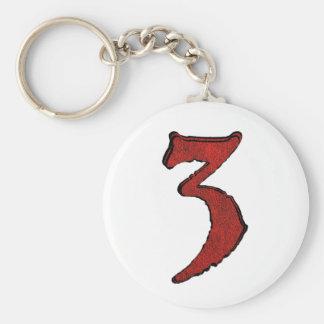 Series rojas del número del día de fiesta del terc llavero personalizado