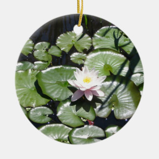 Series water lily ceramic ornament
