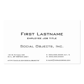 Serif Bank Gothic Template Double-Sided Standard Business Cards (Pack Of 100)