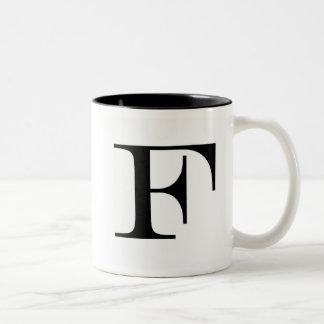 Serif F mug