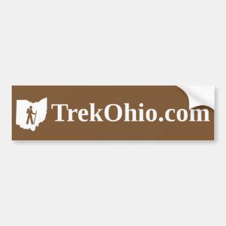 Serif font, brown background bumper sticker