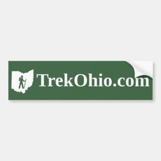 Serif font, green background bumper sticker