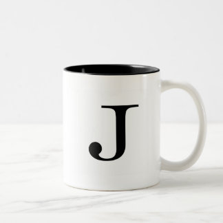 Serif J Mug