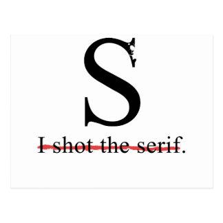 Serif Postcard