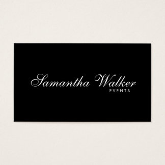 Serif Type 2 (Black Background) Business Card