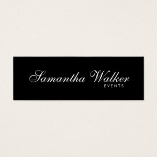 Serif Type 2 (Black Background) Mini Business Card