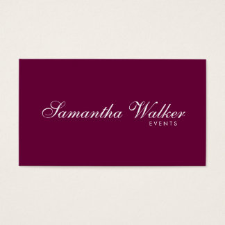 Serif Type 2 (Plum Background) Business Card
