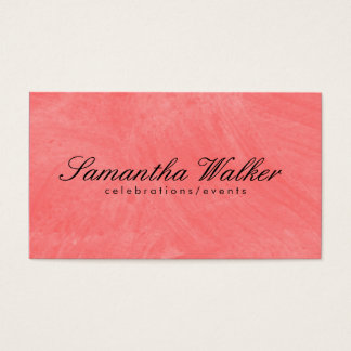 Serif Type / Brush Texture (Guava) Business Card