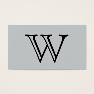 Serif Type Monogram grey background Business Card