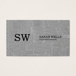 Serif Type Monogram / Marbled Gray Business Card