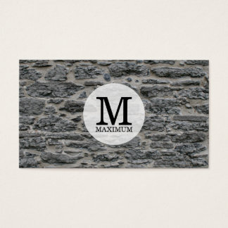 Serif Type Monogram / Stone Business Card