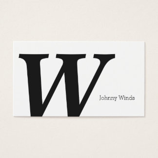 Serif Type Monogram (variation 2) Business Card