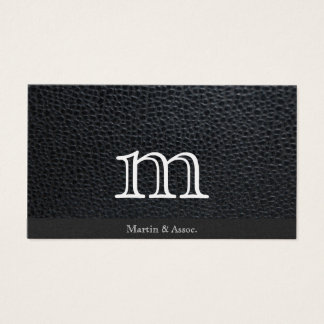 Serif Type Monogram variation / Leather Business Card